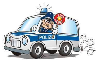 Police Car Blue