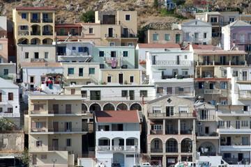 case di una città greca - Kalymnos
