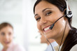 Girl in a call center