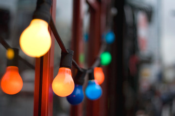 Festive lightbulbs