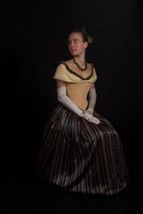 girl in nineteenth century dress
