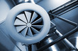 Leinwanddruck Bild - System of ventilating pipes