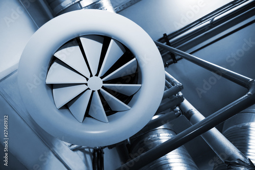 Leinwanddruck Bild System of ventilating pipes