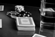 Black and White Conceptual Image of Gambling