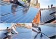 Montage de panneaux solaires