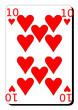 Dix  de coeur