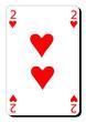 Deux de coeur