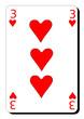 Trois de coeur