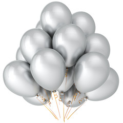 White helium balloons. Wedding party decoration (Hi-Res)
