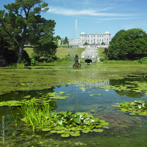 Powerscourt House with gardens, County Wicklow, Ireland