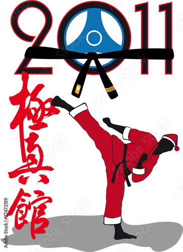 Karate kyokushin kan - Martial art in New Year