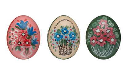 Osterei mit Hand bemalt Bauernmalerei