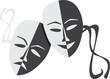 Theatre masks lucky sad - 27674354