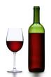 Rotwein vor weißem Hintergrund