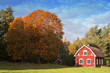 Old Red Wooden Farmhouse in Sweden