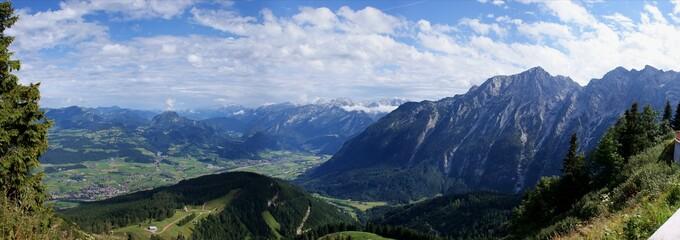 Panorama Salzburger Land von Bayern aus