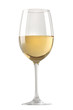 White wine glass isolated over white background