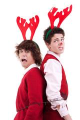 teens wearing reindeer horns, arrested in Christmas lights