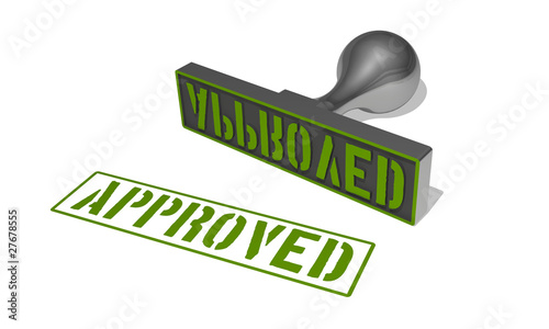 rubber stamp approved green