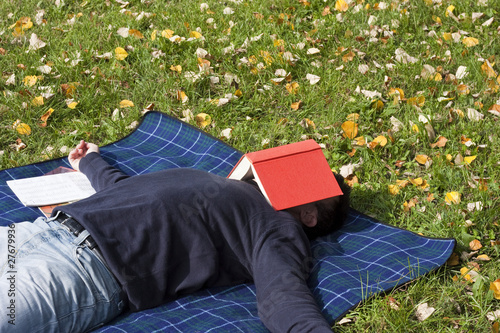 Young Adult Relaxing in the Park