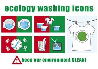 icone lavaggio ecologico