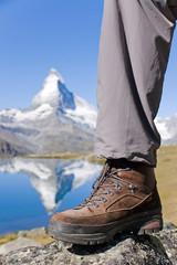 Hiking boots at the Matterhorn