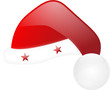 santa claus hat with stars