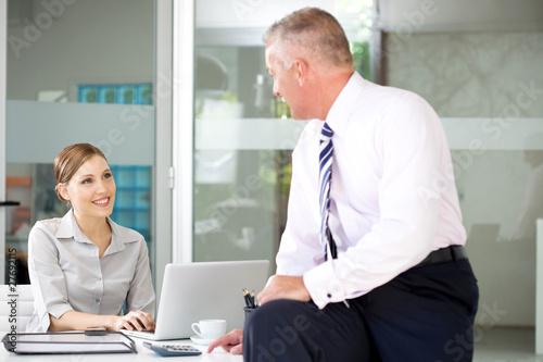 Flirting with a secretary