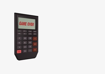 calcolatrice in game over