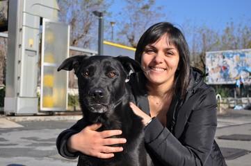 Cane con la zia