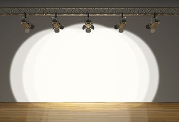 stage with spot lights