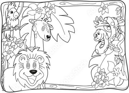 Jungle Lineart Invitation