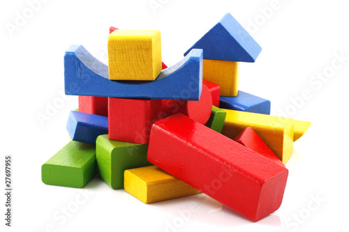 Wooden building blocks