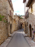 Quaint street in Assisi, Umbria, Italy