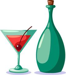 Bottle of cocktail