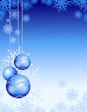 Fototapety Christmas background in blue