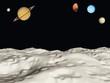 Fototapeten,luna,pois,universum,planet