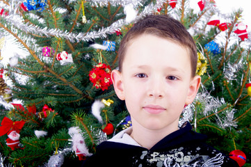 Boy and Christmas tree nb.5