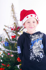 Boy and Christmas tree nb.1
