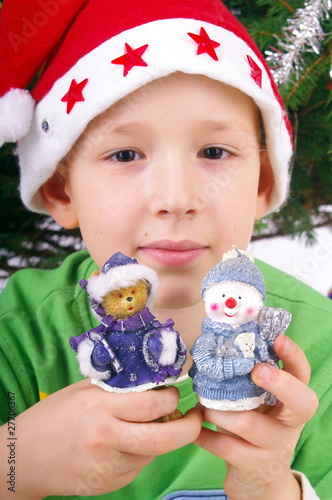 Boy and Christmas figures nb.1