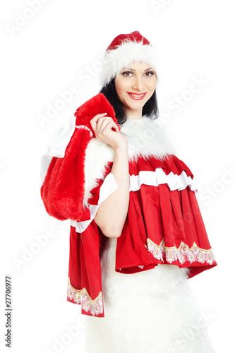 Santa with gift bag