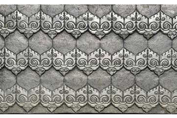 Thai silver pattern Crafts world. Thai Lanna style.