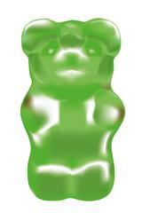 Gummibärchen Vektor, Grün