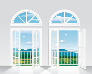 two french windows oval
