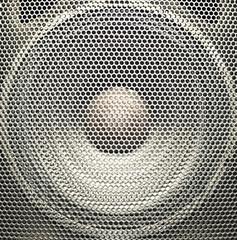 Silver audio speaker