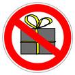 Panneau interdit aux cadeaux de Noël