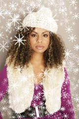 wunderschöne Frau im Weihnachtstraum
