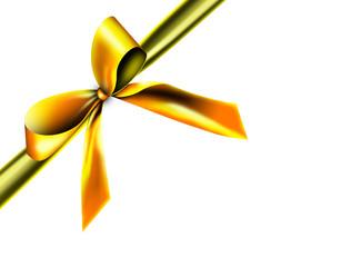 Goldige Geschenkschleife