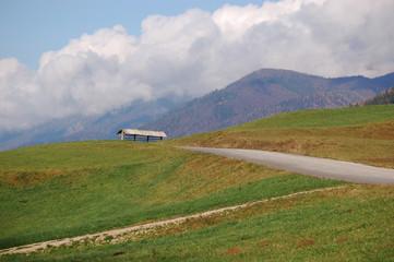 Autumn landscape in hills