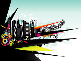 city abstract vector illustration © chispas